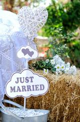 Wedding decor for newlyweds