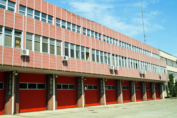 Building of the fire station