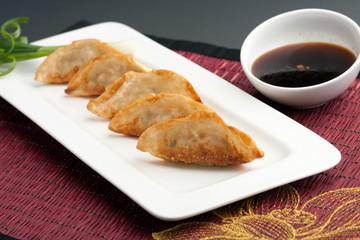 Pan Fried Thai Gyoza Dumplings