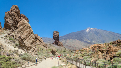 Views of Mount Teide and volcanic formations, Tenerife.