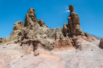 Lava formation in the Teide National Park, Tenerife.
