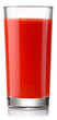 glass of fresh tomato juice isolated on white - 78843324