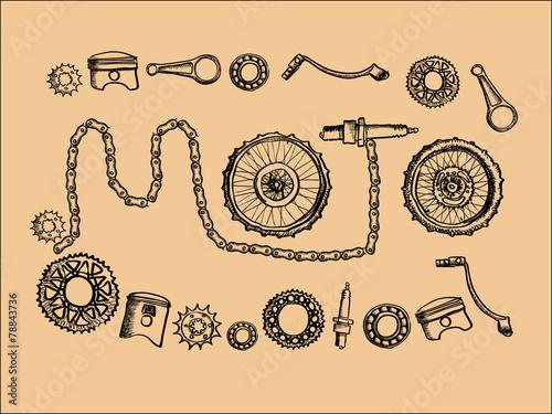 Vintage moto parts - 78843736