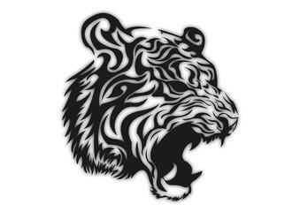 Tattoo tiger face