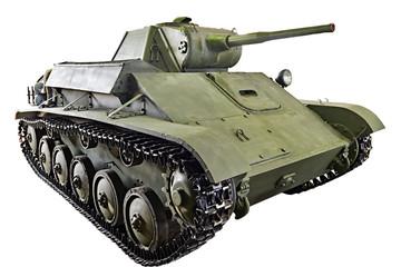 Soviet light infantry tank T-70 isolated
