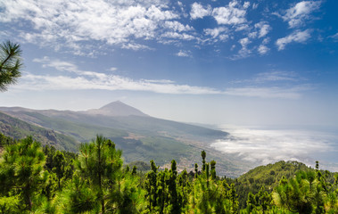 Volcano Teide in the mist (Tenerife).