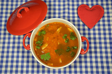 Fish soup and a heart