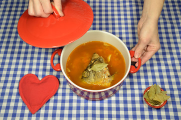 Fish soup with carp