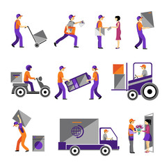 Delivery, courier service, person freight logistic business