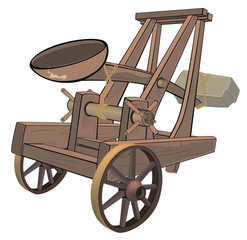A video game object:catapult