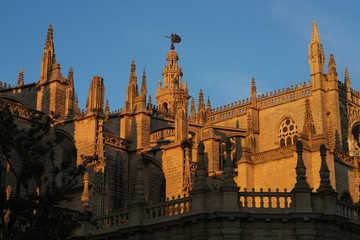 Pinnacles at the cathedral of Seville.