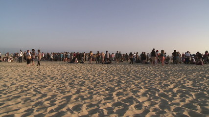 Venice Sunset Crowd