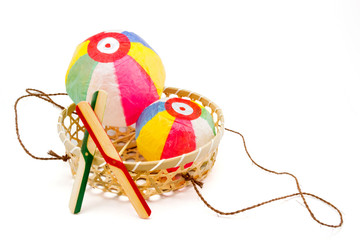 Paper Balloons and bamboo copters, japanese traditional toys