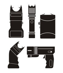 stun gun - silhouette