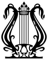Lyra silhouette