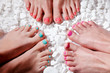 Colorful painted toes - 78849521