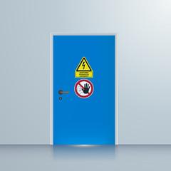 Tür zum Schaltraum, Schaltanlage