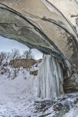 Under the Frozen Ledge