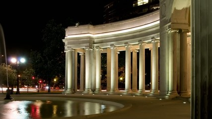 Denver civic center at night