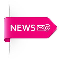 Long pink arrow sticker – NEWS