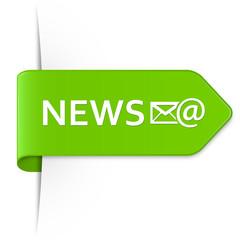 Long light green arrow sticker – NEWS