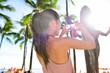 Waikiki tourist woman in Honolulu on Oahu Hawaii
