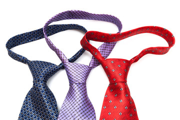 ties knotted