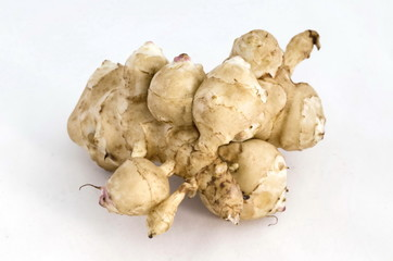 Topinambur or Jerusalem artichoke tuber vegetables