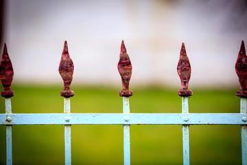 Old steel fence