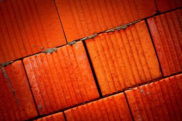 red brickwork wall