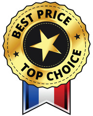 Best Price - Top Choice - American Ribbon with Gold Star
