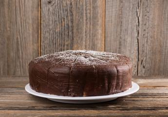 Schokoladen-Birnentorte