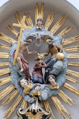 Coronation of the Virgin on the house facade in Graz, Austria
