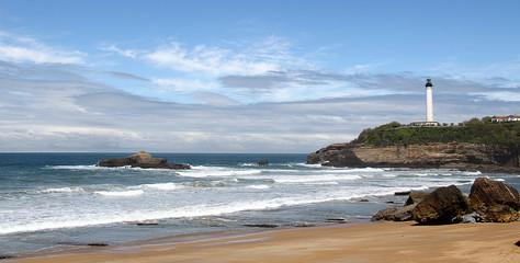 La côte du pays basque à Biarritz