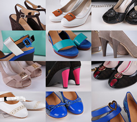 Different colored shoes