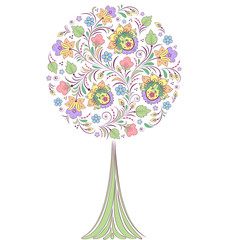 colorful   tree on white background