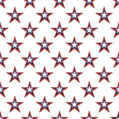 American stars seamless pattern.