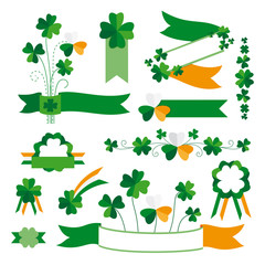 Set of St. Patrick's Day decorative elements