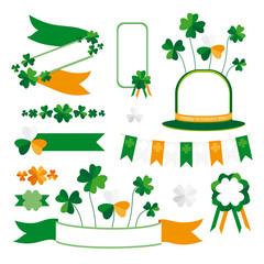 Set of St. Patrick's Day decorative elements