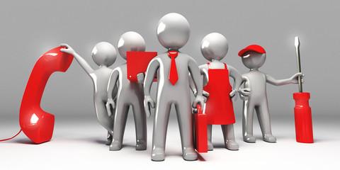Team di lavoratori