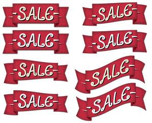 Retro sale banner set