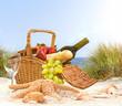 Leinwandbild Motiv Picknick am Strand