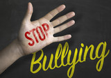 Stop Bullying educacional message on blackboard poster