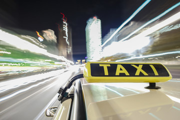 driving taxi in Berlin