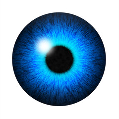 Isolated blue eye pupil