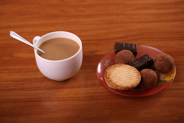 Cookies with hot drink
