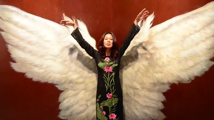 Asian Girl with Angel Wings