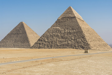 General view of Pyramids of Giza, Egypt