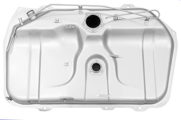 the fuel tank of a vehicle on a white background