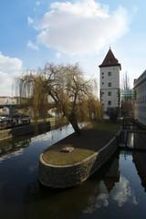 water tower, called Petrziikovska. Prague, Czech Republic